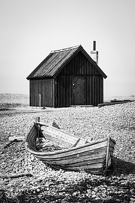 Wooden boat - p312m935672f by Caluvafoto