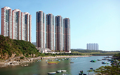 Hong Kong Towerblocks with the sea - p6640078 by Yom Lam
