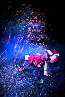 Feuerwerk an Silvester - p1149m1525723 von Yvonne Röder