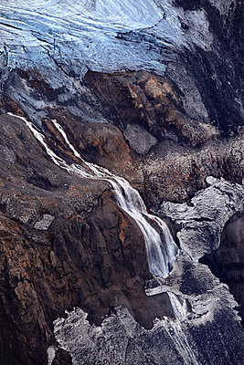 Vatnajökull glacier with frozen waterfall, Landmannalaugar, Iceland - p1026m992036f by Romulic-Stojcic
