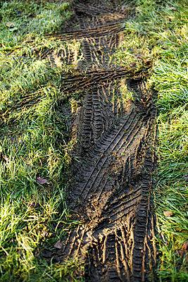 Traktorspuren - p5861411 von Kniel Synnatzschke