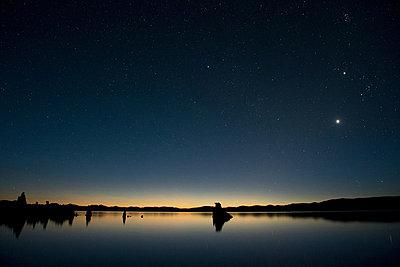 Tufa rock formation, mono lake, california, usa - p924m711174f by Pete Saloutos