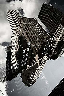 Multiple exposure of buildings in Manhattan, New York, USA - p301m960804f by Michael Mann