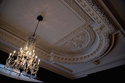 A crystal chandelier - p4422841f by Design Pics