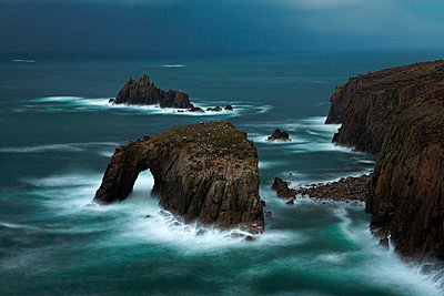 Stormy evening at Land's End - p8714080 by Adam Burton