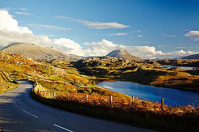 Blick auf Loch Inchard, Kinlochbervie - p1145m1590880 von Kerstin Lakeberg