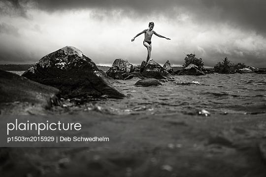 Boy in the Water - p1503m2015929 by Deb Schwedhelm