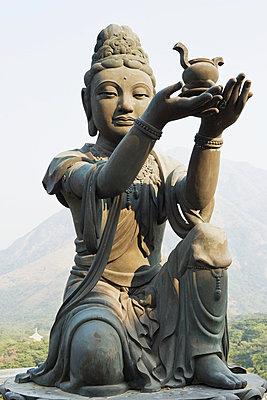 Statue at po lin monastery - p9246171f by Image Source