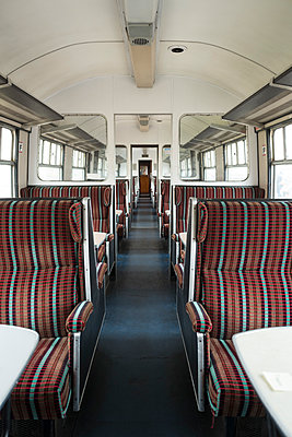 Seat chair train row wagon Compartment perspective - p609m2153902 by WALSH photography