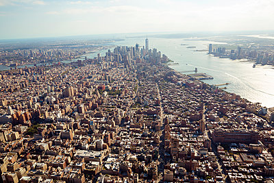 New York aus der Luft - p432m1172397 von mia takahara