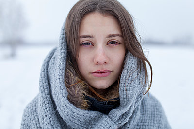 Young woman with a scarf - p1646m2245083 by Slava Chistyakov