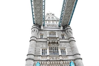 View of London Tower Bridge from Underneath - p1166m2094717 by Cavan Images