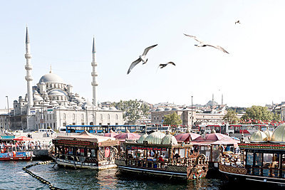 Eminönü Docks and Yeni Camii - p798m851795 by Florian Loebermann
