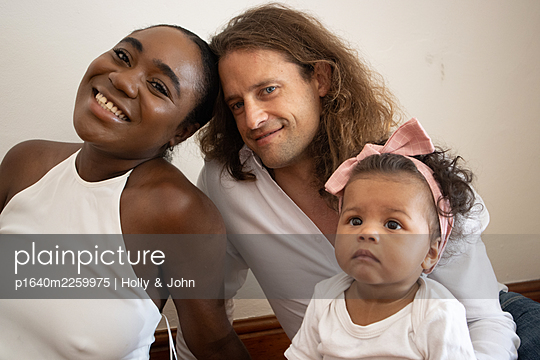 Multi ethnic family with toddler girl - p1640m2259975 by Holly & John