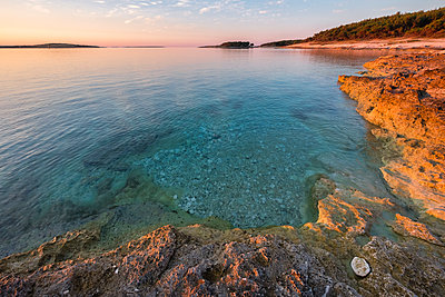 Croatia, Istria, Kamenjak Natural Park, Sunrise on the Adriatic Sea - p300m1505193 by Lorenzo Mattei