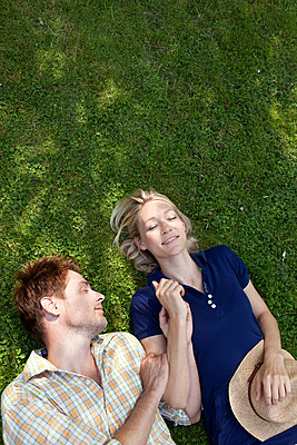 A nap on the lawn - p981m881559 by Franke + Mans