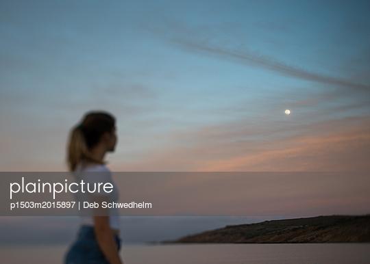 Looking at Moon - p1503m2015897 by Deb Schwedhelm
