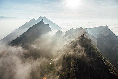 Switzerland, mountains and fog - p300m2062237 by letizia haessig photography