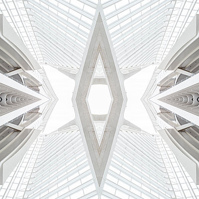 Abstract kaleidoscope pattern Liège-Guillemins station in Liège - p401m2209312 by Frank Baquet