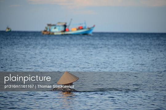 Strand von Longbeach auf der Insel Phu Quoc, Vietnam, Asien - p1316m1161167 von Thomas Stankiewicz