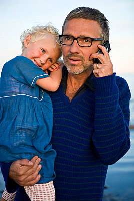 Father and daughter Oland Sweden. - p31219890f by Ulf Huett Nilsson