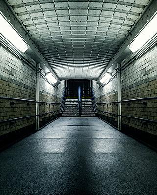 dark underground tunnel at night - p1280m2056872 by Dave Wall
