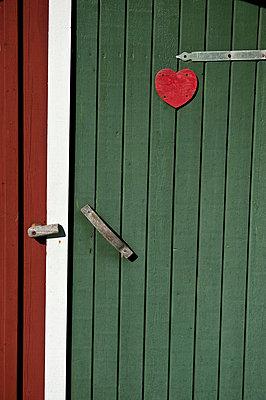 Wooden toilet door - p575m718480f by Benny Karlsson