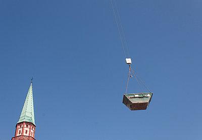 Container über Frankfurt - p228m970700 von photocake.de