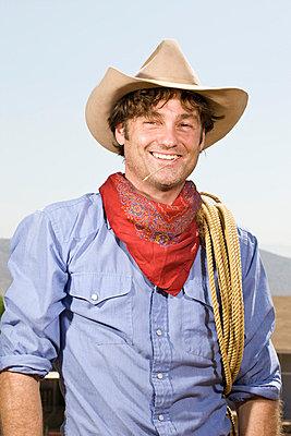 Portrait of a rancher - p3018452f by Adam Burn