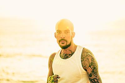 Boxer am Strand - p1474m2053529 von Yuriy Orgakov