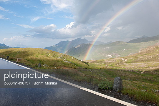 Rainbow in the Hohe Tauern - p533m1496797 by Böhm Monika