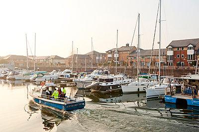 A view of the Marina at Penarth, Glamorgan, Wales, United Kingdom, Europe - p871m895918 by Graham Lawrence