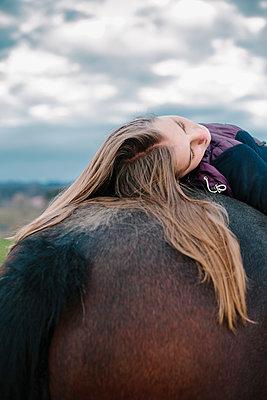Girl on a horse - p1621m2228883 by Anke Doerschlen