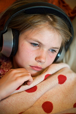 Girl with headphones - p2290996 by Martin Langer