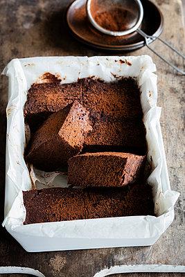 Homemade gluten and sugar free brownies made with teff flour - p300m2160045 by Eva Gruendemann