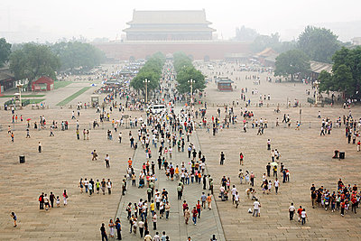 People in tiananmen square - p9246053f by Image Source