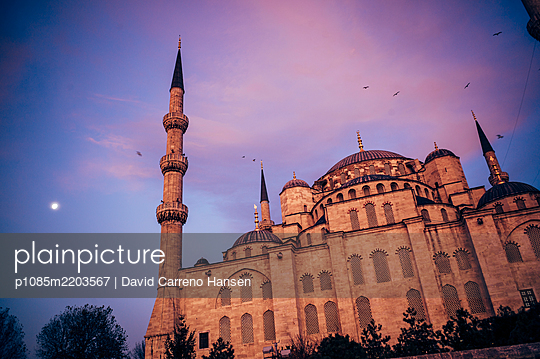 "Turkey, Istanbul, Sultan Ahmed Mosque, ""Blue mosque"" - p1085m2203567 by David Carreno Hansen"