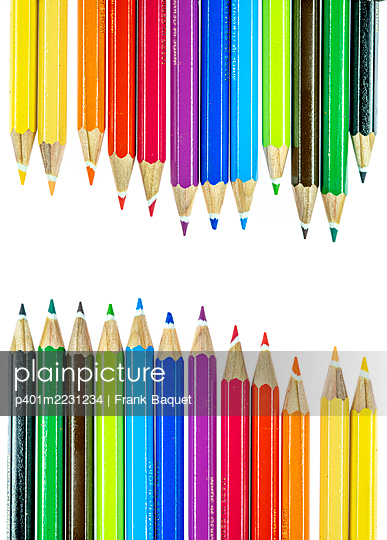 Coloured pencils - p401m2231234 by Frank Baquet