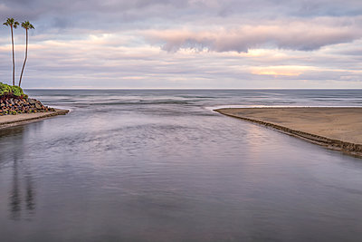 River leading out to the sea at North Beach - p1436m1573244 by Joseph S. Giacalone