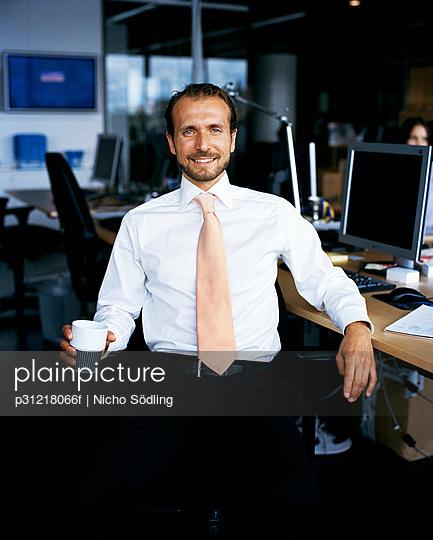 A man in an office Sweden.