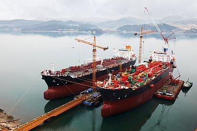 Ships at port, GoSeong-gun, South Korea - p429m1024221f by Adie Bush