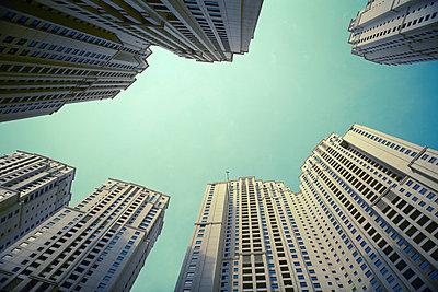 View of skyscrapers - p528m713804 by Dan Lepp