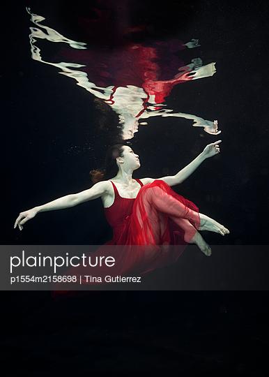 Underwater dancer - p1554m2158698 by Tina Gutierrez