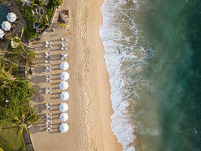 Indonesia, Bali, Nusa Dua, Aerial view of Nikko beach - p300m2042534 by Konstantin Trubavin