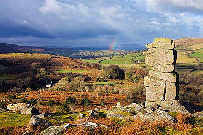 Bowerman's Nose on Hayne Down, overlooking rolling countryside, Dartmoor National Park, Devon, England, United Kingdom, Europe - p871m711371 by Adam Burton