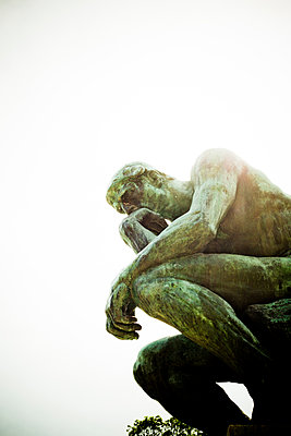 The thinker - p445m1128621 by Marie Docher