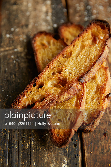 Toasted bread - p1640m2261111 by Holly & John