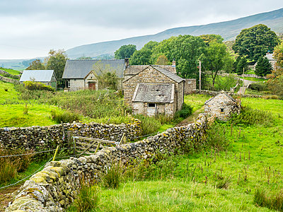 Great Britain, England, District Yorkshire Dales, rural scene, stonehouse - p300m1537572 by Stefan Schurr