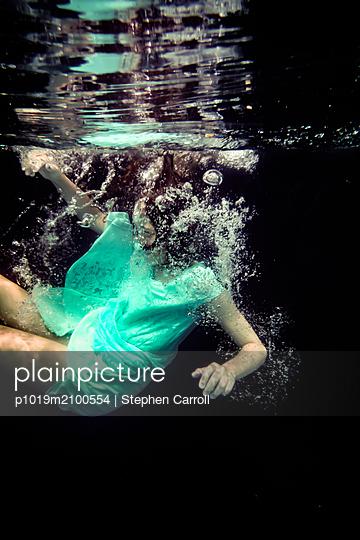 Girl Underwater  - p1019m2100554 by Stephen Carroll