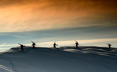 Silhouettes on the mountain top - p1072m929746f by Grigore Roibu